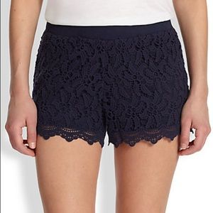 LILLY PULITZER NAVY BLUE CROTCHET SHORTS SIZE 10